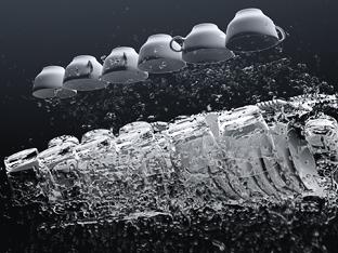 Wasseranimation Geschirrspülmaschine